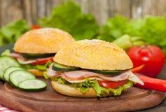 сэндвич с ветчиной сыра близкий вверх Стоковое фото RF