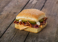 сэндвич с ветчиной сыра близкий вверх Стоковое Фото