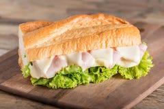сэндвич с ветчиной сыра близкий вверх Стоковые Фотографии RF