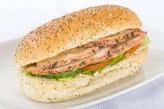 сэндвич с курицей Чарс-гриля Стоковые Фото