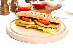 Сэндвич с курицей стоковое изображение