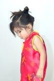 сюита азиатской девушки китайская в красном цвете Стоковые Фото