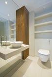 сюита роскоши en ванной комнаты Стоковая Фотография