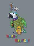 Сюрприз пасхи попугая Стоковые Фото