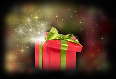 Сюрприз подарка рождества Стоковые Фото
