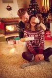 Сюрприз с подарком для рождества Стоковые Фото