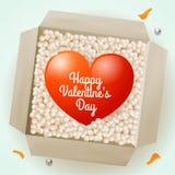 Сюрприз с сердцем внутрь, иллюстрация на день валентинки для дизайна Стоковое фото RF