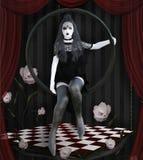 Сюрреалистическая готическая девушка на этапе бесплатная иллюстрация