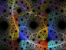 Сюрреалистическая футуристическая цифровая иллюстрация фрактали предпосылки конспекта искусства дизайна 3d для раздумья и обоев у бесплатная иллюстрация