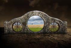Сюрреалистический каменный строб, арка, природа Стоковая Фотография RF
