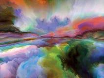 Сюрреалистическое покрашенное Cloudscape стоковые фото