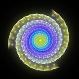 сюрреалистическая спиральная змейка 3D Стоковое Изображение RF