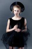 Сюрреалистический портрет черноты Стоковая Фотография