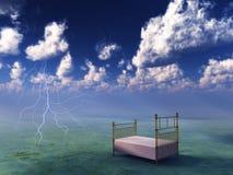сюрреалистическое ландшафта кровати мирное стоковые фотографии rf