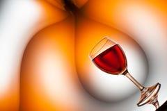Сюрреалистическое искусство вина Стоковые Изображения RF
