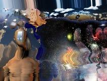 Сюрреалистическое плавя искусство Стоковое Изображение