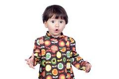 сярприз девушки платья младенца флористический Стоковая Фотография RF