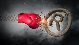 Сярприз перчатки бокса Мультимедиа иллюстрация штока