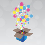сярприз подарка иллюстрация вектора