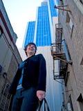 Ся женщина в городе Стоковое фото RF
