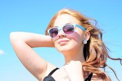 ся женщина солнца стоковые фотографии rf