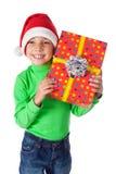 Ся мальчик с коробкой подарка Стоковое Изображение