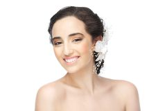 Ся невеста с нагими плечами Стоковое фото RF