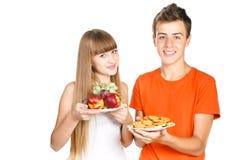 Ся обед выставок подростков здоровый Стоковые Фото