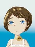 Ся девушка с цветком на шеи Стоковые Изображения