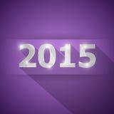 2015 с абстрактной предпосылкой фиолета треугольника Стоковая Фотография RF