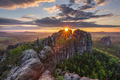 Слава захода солнца весны Стоковые Фото