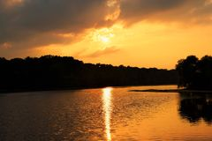 Слава захода солнца Стоковое Изображение RF