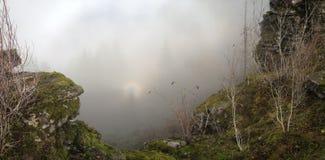 Слава над краем скалы Стоковое фото RF