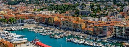 Славная береговая линия города на Средиземном море Стоковая Фотография RF