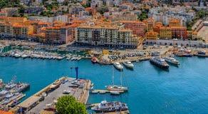 Славная береговая линия города на Средиземном море Стоковая Фотография