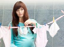 Славная беременная женщина Стоковое Изображение