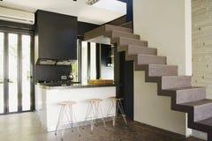 Славная внутренняя двухшпиндельная живущая комната Стоковые Изображения