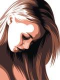 Славная голова женщины Стоковая Фотография