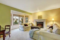 Славная живущая комната с оформлением Стоковые Фотографии RF