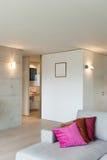 Славная квартира, взгляд живущей комнаты Стоковые Изображения RF