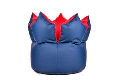 Славная новая и мягко сине-красная схематическая погремушка изолированная на белой предпосылке Стоковое Изображение