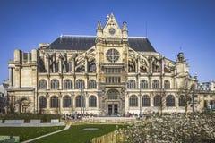 Славная церковь в центре Парижа Стоковое фото RF