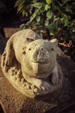 Славное гостеприимсво - статуя свиньи декоративная Стоковое фото RF