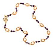 Славное ожерелье изолированное на белой предпосылке Стоковые Фото