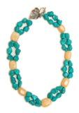 Славное ожерелье изолированное на белой предпосылке Стоковые Изображения RF