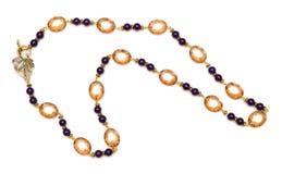 Славное ожерелье изолированное на белой предпосылке Стоковое Изображение RF