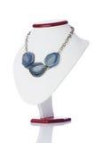 Славное ожерелье на белизне Стоковое Изображение