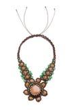 Славное ожерелье на белизне Стоковое Фото