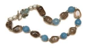 Славное ожерелье на белой предпосылке Стоковое Изображение RF