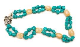 Славное ожерелье на белой предпосылке Стоковая Фотография